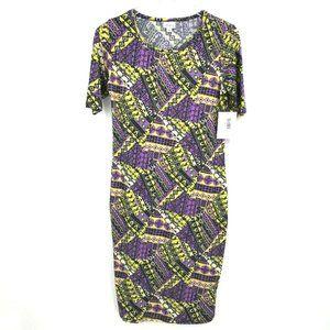 Lularoe Womens Multicolor Julia Geometric Dress S
